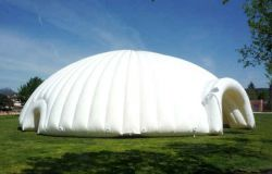 Inflatable tent shaped giant igloo